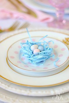 How to make each person at the table feel really special! #easter #heisrisen #eastertable #easterdinner #easterdecor #springdecor #tablescape #eastertablescape #easterdinnertable #pinktablescape #floraltablescape #galentines #femininetable #tablesetting #hostingathome #saferathomefortheholidays #peonies #easterbasket #placesetting #easterplacesetting Easter Table Decorations, Easter Decor, Easter Centerpiece, Fall Table Settings, Easter Crafts For Kids, Bunny Crafts, Easter Celebration, Easter Party, Easter Gift