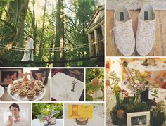 {treehouse} whimsical green and brown treehouse wedding