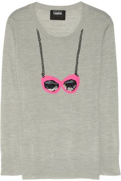 Markus Lupfer | Sunglasses sequin-embellished merino wool sweater | NET-A-PORTER.COM