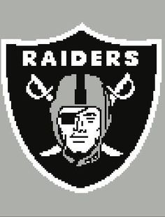 Oakland Raiders Crochet Graph Chart 130 X 100