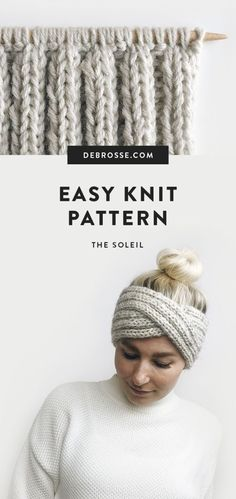 This is a super simple + modern knit headband pattern. Works up quickly, and is so fun to watch the twist come together. Pattern comes with photo + video Strickmuster für süßes Stirnband Knitting pattern for cute headband – knitting and crochet TUTO Knitting Patterns Free, Knit Patterns, Free Knitting, Knitting Ideas, Knitting Needles, Knitting Humor, Finger Knitting, Afghan Patterns, Knitting Charts
