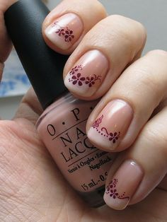 French Manicure with OPI Passion & OPI Funny Bunny by Helmetti. Yet another beautiful French manicure!
