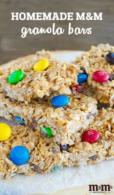 All you need to make these Homemade M&M Granola Bars for back-to-school is 5 ingredients and a couple minutes! Making this sweet snack idea the perfect go-to treat all year long. Plus, your kids will love to help you make this special celebration dessert recipe and you can find everything at Kroger—what's not to love about this celebratory treat?