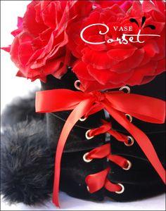Vase Corset...cute for a lingerie themed bridal shower!