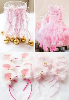 Cute bell necklace and kitty cat ears for Kitty Party