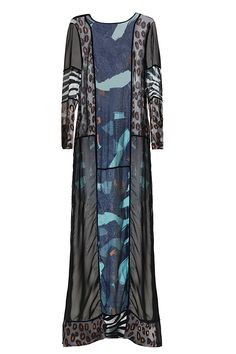 Long sheer dress with blocked print | #HMStudioAW14