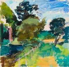 Evening Path at Lancay | Henry Finkelstien, 36 in.Hx37 in.W