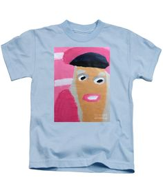 Patrick Francis Designer Kids Light Blue T-Shirt featuring the painting Nicki Minaj by Patrick Francis