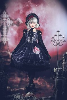 #LolitaUpdate: [-☪✙-Moon Wolf Lolita JSK-✙☪-] is available for pre-order again >>> http://www.my-lolita-dress.com/newly-added-lolita-items-this-week/broken-doll-moon-wolf-series