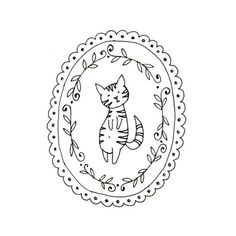 cat embroidery - Google Search