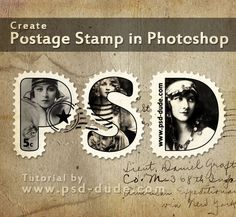 Create a Postage Stamp Text in Photoshop - Photoshop tutorial | PSDDude