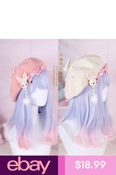 Hair Pin Lolita Hair Accessories Moe Sweet Japan Kawaii Bow Cute Beret  Kawaii  1 e0b8de10dce1