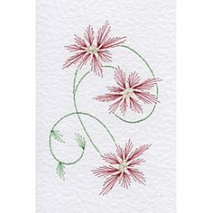 Christmas Poinsettia | Christmas patterns at Stitching Cards.