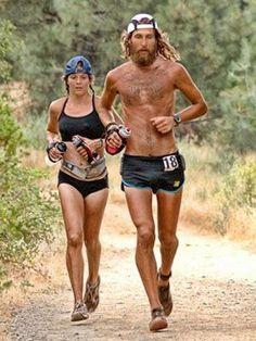 Anton Krupicka and Jenn Shelton at the Western States 100