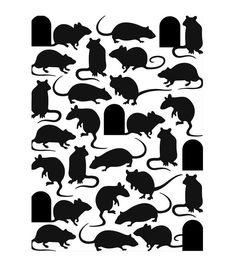 "Embossing Folder 4.25""X5.75""-Mice And Door Joann"