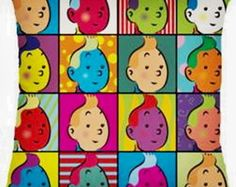 * ALMOFADA POP ART - TIN TIN