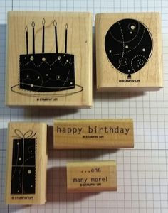 Stampin' Up! BIRTHDAY WHIMSY balloon cake gift happy birthday and many more #StampinUp