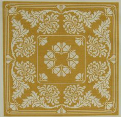 Newest pattern in Vintage Textile collection, Belfast. Design reflects inspiration by vintage damask table linens Cross Stitch Designs, Cross Stitch Patterns, Cross Stitch Geometric, Square Patterns, Monochrom, Bargello, Carpet Design, Vintage Textiles, Filet Crochet