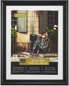 20in x 26in black stockholm poster frame perfect for my future world map made of photographs