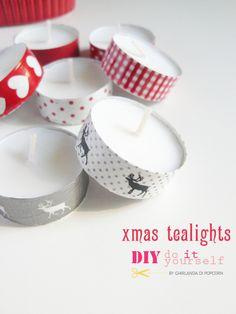DIY Christmas tealights