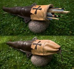 replica quiver based on a burial find at Hedeby, a Viking location: information on original sources would be most welcome!