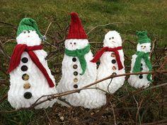 chenille snowmen