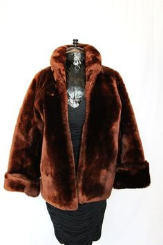 Fur jacket from the 1940s.  Many hippies wore the old fur coats.  I still have one quite like this that was my mother's.  It is very warm.