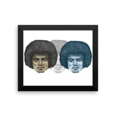 Tripple MJs illustrated by Robert Bowen Framed Poster