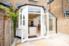 oak framed kitchen extensions l-shaped terrace london - Google Search