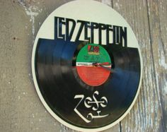 Recycled Vinyl Record LED ZEPPELIN Wall Art by SecondSpinDesigns