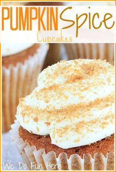 WE DO FUN HERE| Pumpkin Spice Cupcakes
