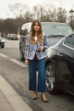 Miroslava Duma in Chanel - The Best Street Style From Pais Couture