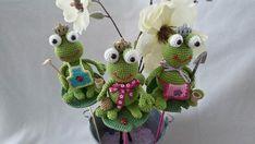 Christmas Ornaments, Holiday Decor, Free, Kitchen, Amigurumi, Crochet Stuffed Animals, Insects, Planting Flowers, Flower Crochet