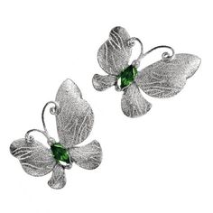 Alex Soldier Tourmaline Silver Platinum Textured Butterfly Earrings ($690) ❤ liked on Polyvore featuring jewelry, earrings, multiple, stud earrings, silver earrings, silver jewellery, tourmaline earrings, butterfly earrings and platinum stud earrings
