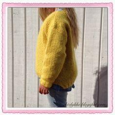 Mellow yellow Skappel sweater:-) Moss stich Skappelgenser til barn i perlestrikk