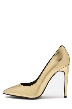 Jeffrey Campbell Shoes DULCE New Arrivals in Gold Mirror