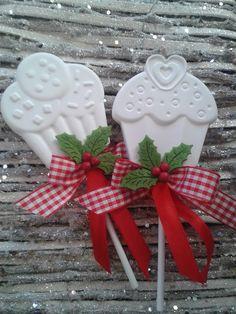 Cupcake lecca lecca (versione natalizia)- Handmade by IlCassettodeiSogni