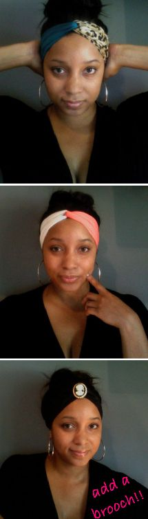 DIY Turban Headband, it would be cool with different colors too