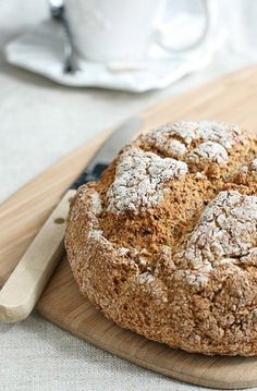 Homemade soda bread for breakfast...with LOTS of butter and honey. Great start to the week. -R