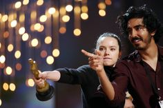 Taking the lead: Daisy Ridley and Dev Patel played around with the Oscar...