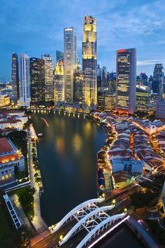 Singapore cityscape skyline