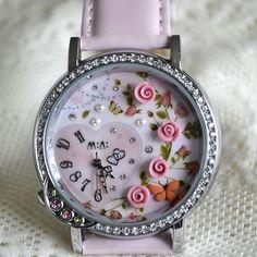 MINI hodinky - Růžová zahrada Bracelet Watch, Watches, Retro, Bracelets, Leather, Accessories, Wristwatches, Clocks, Bracelet