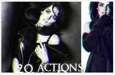 A collection of 15 Awesome Free Photoshop Actions. 3d Photoshop, Effects Photoshop, Photo Action, Photo Effects, Free Design, Photo Editing, Halloween Face Makeup, Black And White, Inspiration