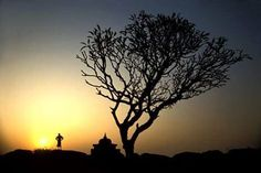 Beauty of nature: Magnificent view of sunset at Arambol hills in #Goa.