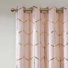 Arielle Total Blackout Metallic Printed Curtain Panel