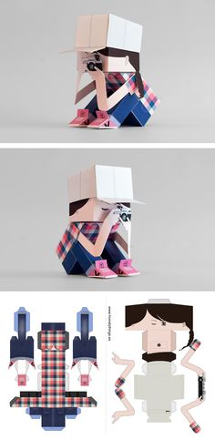 Papertoy like Tanyapapertoy!!  www.homelythins.es #papertoy, #handmade…