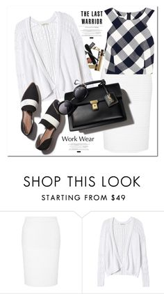 """Work It 2016"" by adduncan ❤ liked on Polyvore featuring Lipsy, Rebecca Taylor, Oscar de la Renta, Matt Bernson, WorkWear, contest, white and YSL"