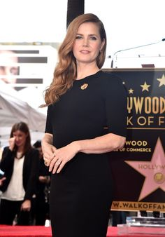 Actress Amy Adams attends her star ceremony on the Hollywood Walk of Fame in Hollywood.
