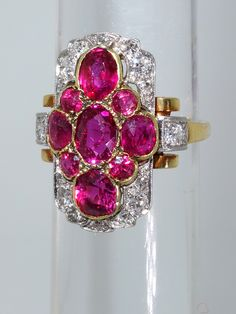 Pierre Famille foremost in the acquisition and sale of Important Jewelry in Aspen CO. The rubies are exceptional, unheated and from Burma. The ring is in fine condition, circa Platinum Ring, Belle Epoque, Diamond Cuts, Heart Ring, Diamond Earrings, Sparkle, Engagement Rings, Crystals, Antiques
