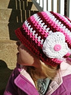 Sweetheart Valentine Crochet Brimmed Hat on Etsy, $18.00